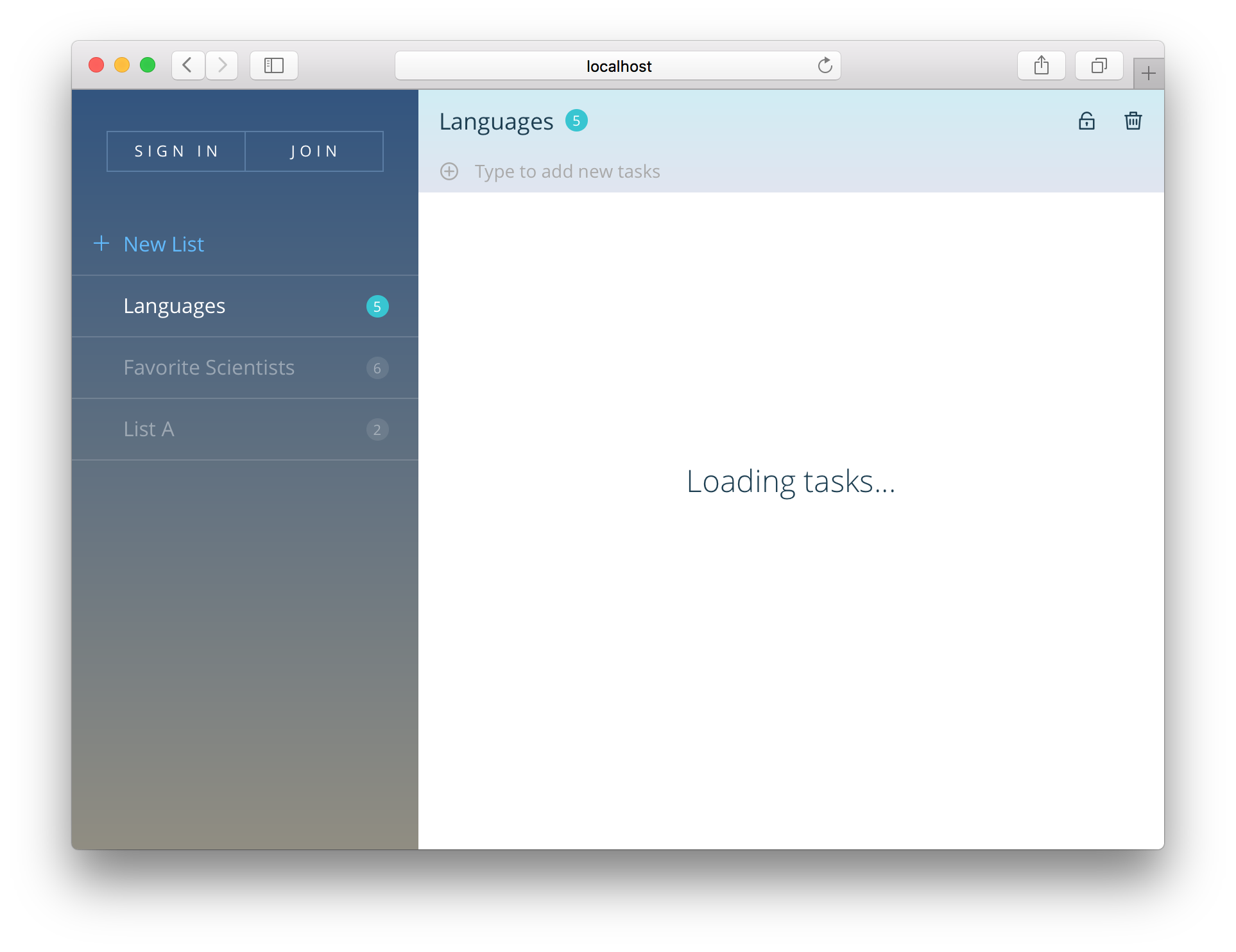Loading messages ux
